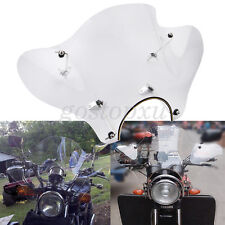 Clear Motorcycle Windshield Windscreen + Mounting Kit Universal For Harley Honda
