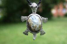 p067g coquille nacre perles bijoux pendentif collier avec cordon Tortue