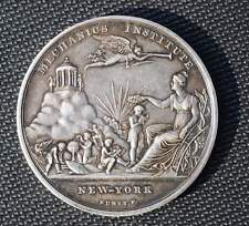 Early American Prize Silver Medal Mechanics Institute To Benjamin Marshall 1836
