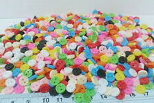 NEW BUTTONS 6 mm.PLASTIC MIXED COLORS LOTS 250 SEWING CRAFTS HANDMADE WHOLESALE