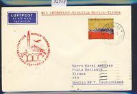 43951) DDR DH FF Berlin - Tirana 8.4.60, Brief ab Liechtenstein