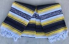 Set 2 Falsa Handmade & Woven Mexican Blanket Decor Hot Rod Throws Multi Colored