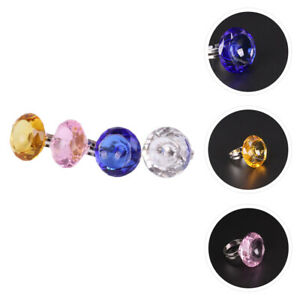 4PCS Manicure Crystal Ring Manicure Glass for Home Salon Store