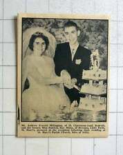1964 Andrew Millington, Redruth Marries Patricia Munn, St Mary's Isles Of Scilly