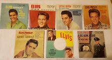 Lot of 7 Elvis Presley 45 RPM Record Covers Very Good Condition