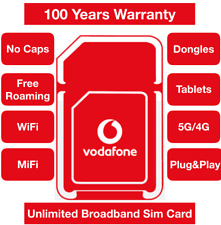 Vodafone 5G/4G Multi Broadband Data Sim card, Unlimited data Double data