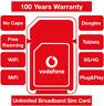 Vodafone 5G/4G Multi Broadband Data Sim card, Unlimited data Double data