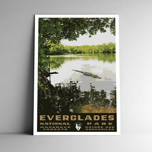 Everglades National Park WPA-Style Vintage-Style Travel Poster 12x18 Florida