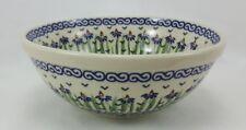 Bunzlauer Keramik Schale MISKA, Schüssel, blau/weiß, ø17cm (M090-MC15), V=0,6L