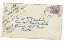 1933 Auburn Alabama NRA #732 to Pinar Del Rio Postmaster Signed