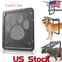 Screen Door Dog Footprint Pattern Cat Window Screen Doggie Flap Safe Pet Supplie