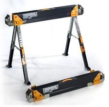 Adjustable Folding Sawhorse 1100 lb Portable Jobsite Table Scaffold Workbench