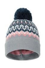 Mountain Warehouse Wms  Winter Pattern Womens Pom Beanie In Grey - One Size