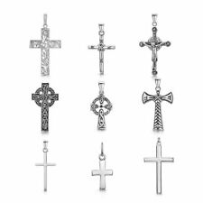 Amberta Colgante Cruz Unisex en Plata de Ley 925 Crucifijo para Mujer y Hombre