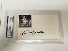 Johnny Unitas Autographed Index Card With Photo PSA Authentic