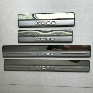 Stainless steel Outer Door Sill Scuff Plate Guard Fit For Volvo XC60 2009-2016