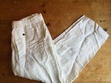 NWT Cubavera Mens Linen Blend Drawstring Pants Size Large White $58 B25