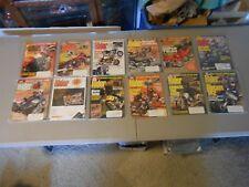 LOT OF 12 1997 RIDER MOTORCYCLE MAGAZINES,COMPLETE YEAR,HARLEY,HONDA,SUZUKI,YAMA