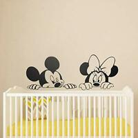 Mickey Mouse & Minnie Mouse Disney Inspired Wall Sticker Bedroon/Living Room./Di
