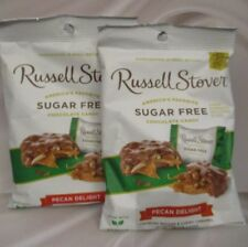 RUSSELL STOVER-Sugar Free Pecan Delight Chocolate Candy{2 BAGS}*MADE w/h STEVIA*