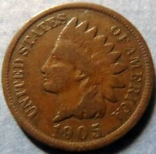 *1905  INDIAN  HEAD  BRONZE  PENNY, Nice Details Philadelphia Mint Coin  #8