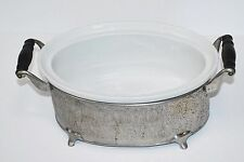 ROYAL ROCHESTER O.P. CO. CERAMIC OVEN TO TABLE  CASSEROLE & deco stand