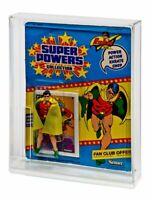 1 x GW Acrylic Display Case - Carded Vintage Super Powers (std) MOC (ADC-007)