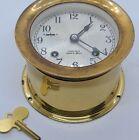 "Vintage Working 1970 CHELSEA ""SHIP'S BELL STRIKE"" Brass Marine Porthole Clock"