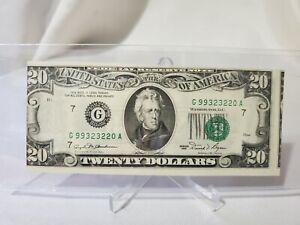 $20 Note Series 1981 Error-MisCut-MisPrint? Serial # G99323220A