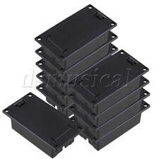 10x Plastic Pickup 9V Battery Box Case Holder for Active Guitar Bass Black