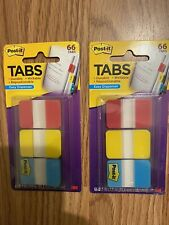 2 Packs Of Post It Tabs 3m 686 Ryb Red Yellow Blue Durable