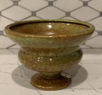 Mid-Century Haeger Pottery Pedestal Bowl/Planter Blended/Drip Glaze Vintage