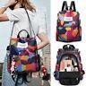 Women Waterproof Oxford Cloth Travel Backpack Anti-theft Shoulder Bag Handbag JR