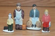 Unbranded Lot of 4 Small Ceramic Christmas Traveling Figurines Only **READ**