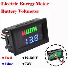 1x 12-60V / 72V Charge Level Indicator Voltmeter Lithium/Lead-acid Battery