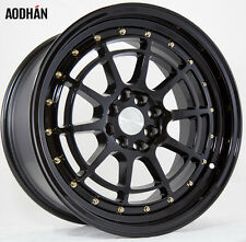 AODHAN AH04 17x9 4x100 / 4x114.3 +25 Black (PAIR) wheels