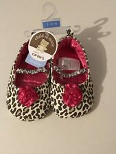 Carters Baby Girl Shoes Size 3-6 Months. Nwt. Cheetah Print/Pink.