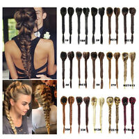 Clip In On Braid Ponytail Drawstring Fishtail Plaited Women Hair Extensions
