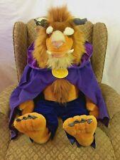 "HTF Rare Disney Beast Plush Jumbo Large Beauty & The Beast 36"" Tall Damaged"