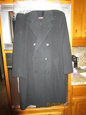 Roundtree & York 100% lambswool Size 40S Full Length Black Overcoat