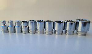 "Metric Sockets 10pc 8mm to 29mm, 1/2"" Drive, Heavy Duty, Precision Minimax Tools"