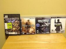 Playstation 3 - Four Game Call of Duty Lot - COD 3, Ghosts, MW2 & MW3