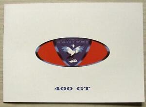 VENTURI 400 GT Car Sales Brochure c1995