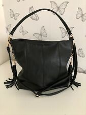 Black medium hobo bag with crossbody strap