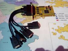 PCI Karte auf 1x 25pol parallel LPT + 4x 9pol seriell RS232 COM Stecker