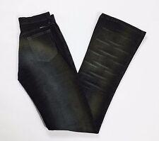 Kocca jeans w26 tg 40 nero grigio usato zampa bootcut vintage usati donna T2049