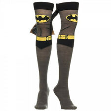 ~ BATMAN THIGH HIGH SOCKS with Cape ~ Womens Superhero Costume BATGIRL BATWOMAN