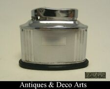 Art Deco Chrome-plated Metal & Bakelite Table Lighter by Fisher Canada