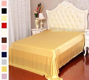 19MM 100% Silk Flat Sheet Seamless Silk Bed Linens Twin Full Queen King Cal king