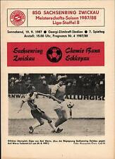DDR-Liga 87/88 ZEPA Sajonia anillo Zwickau-Química Buna Schkopau, 19.09.1987